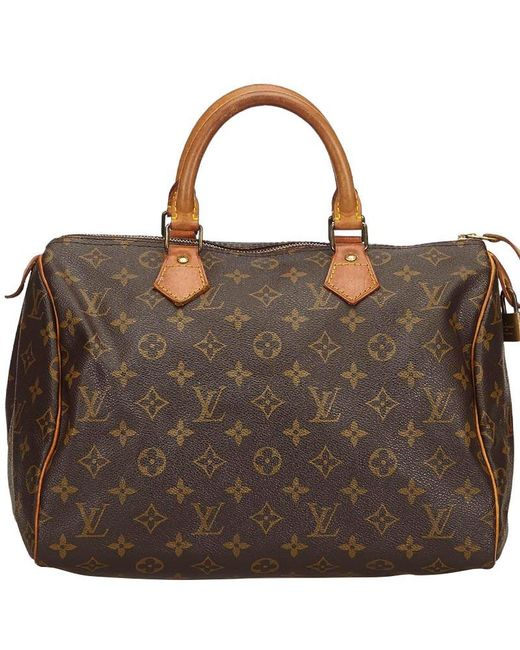 9a9f49cdcc56 Louis Vuitton - Brown Monogram Canvas Speedy 30 Bag - Lyst ...