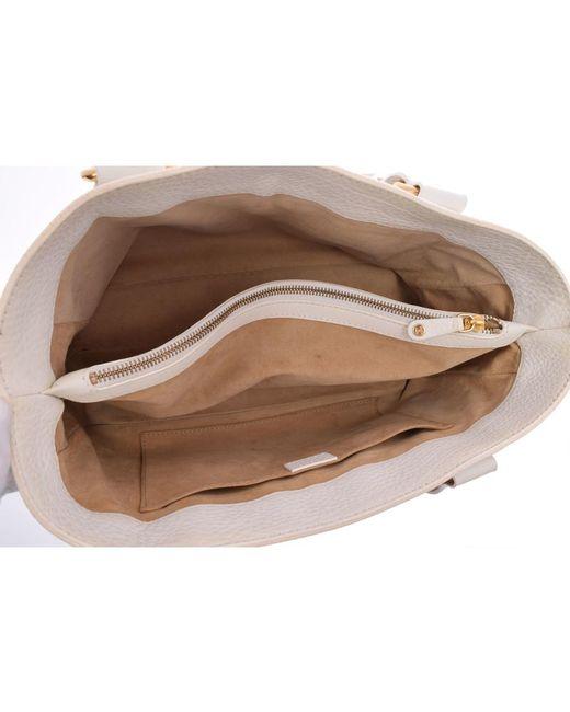 bd1fd090e7 ... Céline - White Pebbled Leather Boogie Bag - Lyst ...