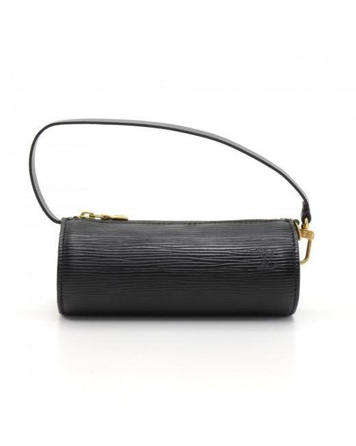 09ea5bf022b ... Louis Vuitton - Black Noir Epi Leather Soufflot Bag - Lyst ...