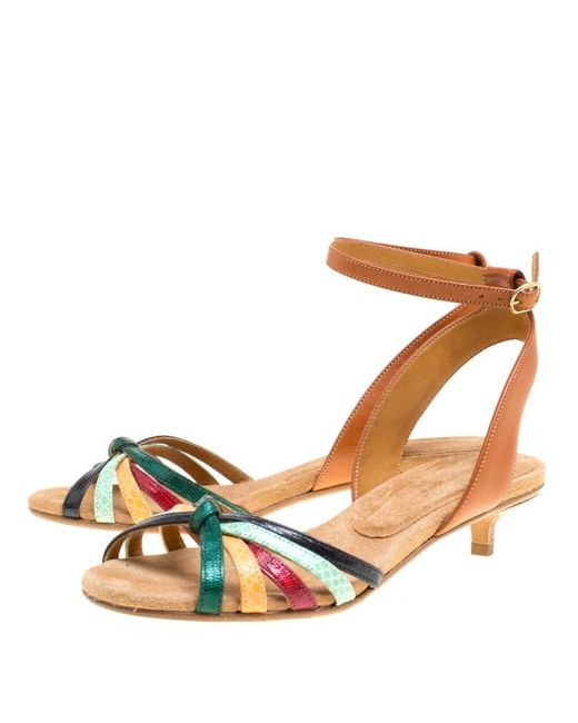 6936fa83145 ... Isabel Marant - Multicolor Leather Pulse Ankle Wrap Sandals Size 38 -  Lyst ...