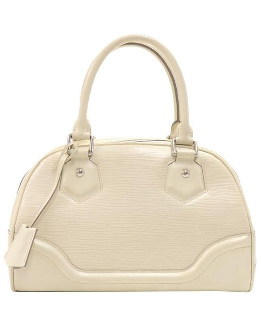 Louis Vuitton Natural Ivorie Epi Leather Montaigne Pm Bag
