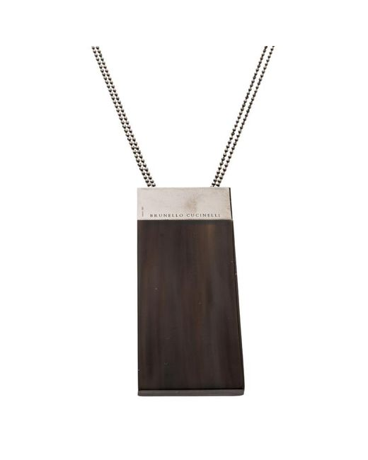Brunello Cucinelli - Metallic Horn Monile Pendant Necklace - Lyst
