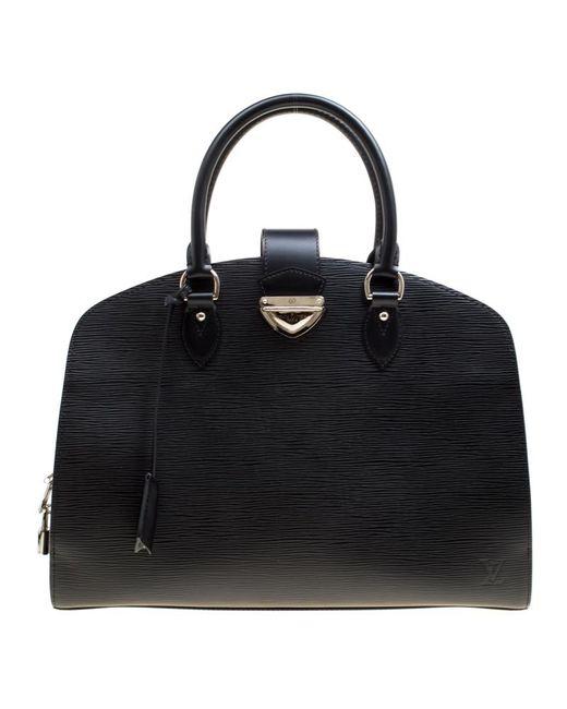 563e6a950abe Louis Vuitton - Black Epi Leather Pont Neuf Gm Bag - Lyst ...