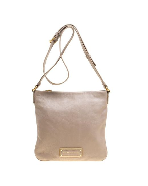 Marc By Marc Jacobs - Gray Leather Crossbody Bag - Lyst