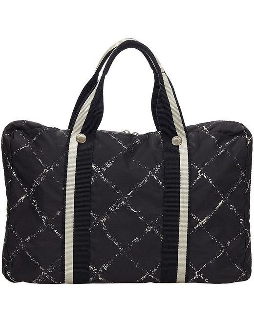 Chanel Black Nylon Travel Line Everyday Bag
