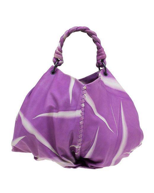 458fe430b391 ... Bottega Veneta - Purple Violet Tye Dye Leather Large Aquilone Fortune  Cookie Hobo - Lyst ...