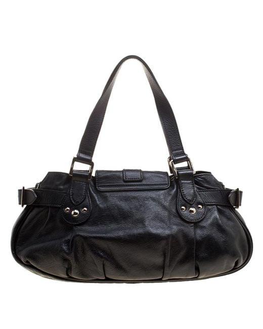 7736817f8b24 ... Longchamp - Black Leather Shoulder Bag With Wallet - Lyst ...