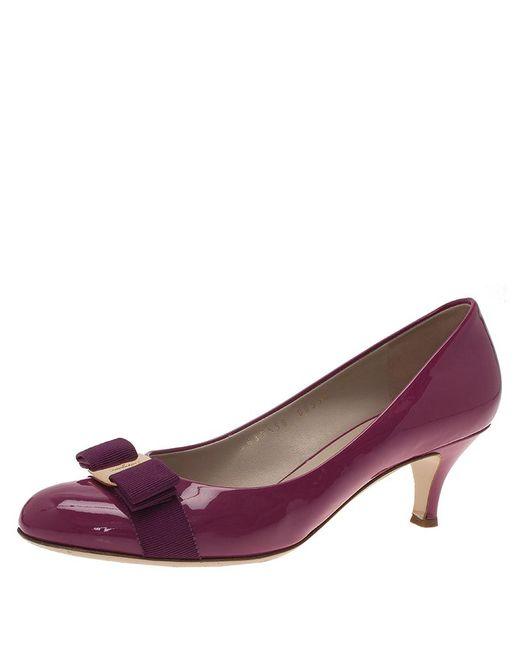 5b5d744b8f4 Women's Purple Magenta Patent Carla Vara Bow Pumps