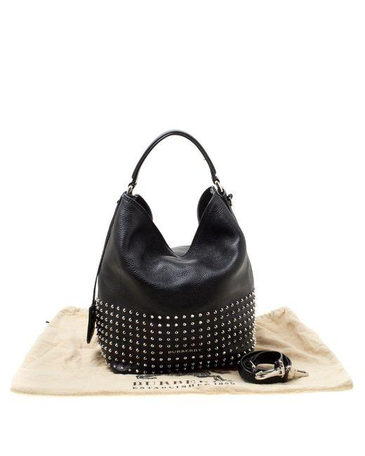... Burberry - Black Leather Studded Susanna Bucket Bag - Lyst ... b0ba3eca89633