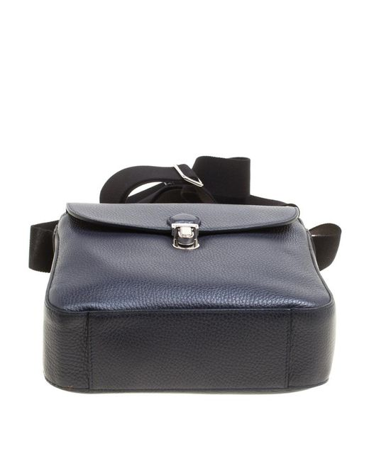 Lyst - Tod s Leather Reporter Messenger Bag in Blue for Men 0ac9774952743
