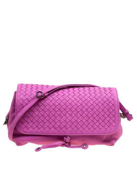 267a4ef94992 Bottega Veneta - Purple Lavander Intrecciato Leather Accordion Shoulder Bag  - Lyst ...