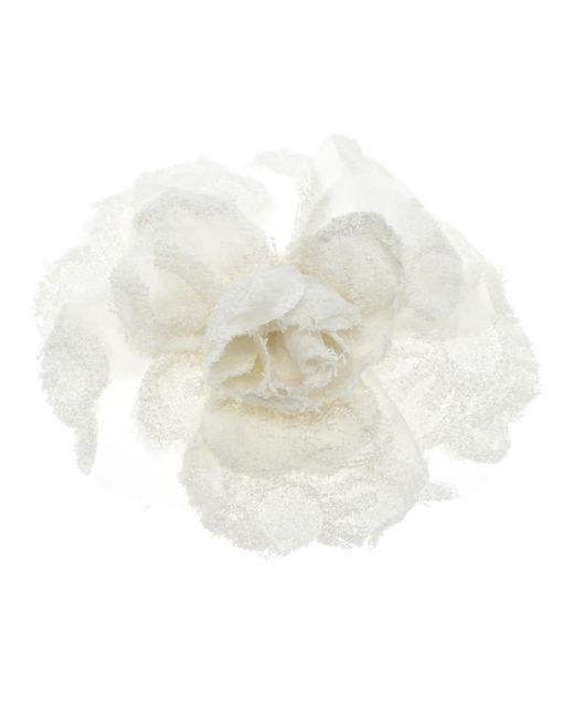 Chanel - Multicolor Camellia Flower Brooch - Lyst