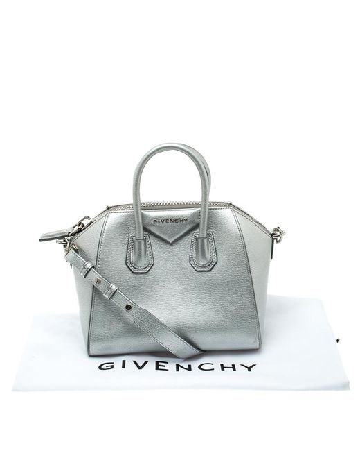 fe7807f1f92 ... Givenchy - Metallic Leather Mini Antigona Satchel - Lyst ...