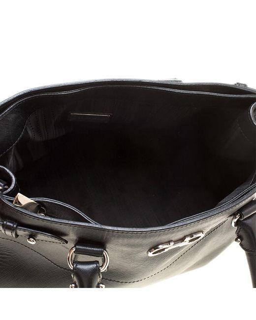 e4780afa2f5a ... Ferragamo - Black Leather Batik Tote - Lyst ...