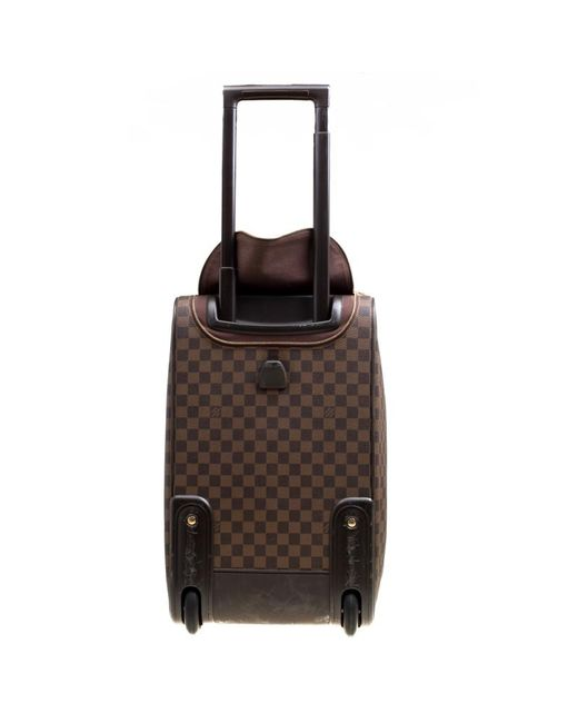 a2dbc4ab320c ... Louis Vuitton - Brown Damier Canvas Eole 50 Rolling Luggage - Lyst ...