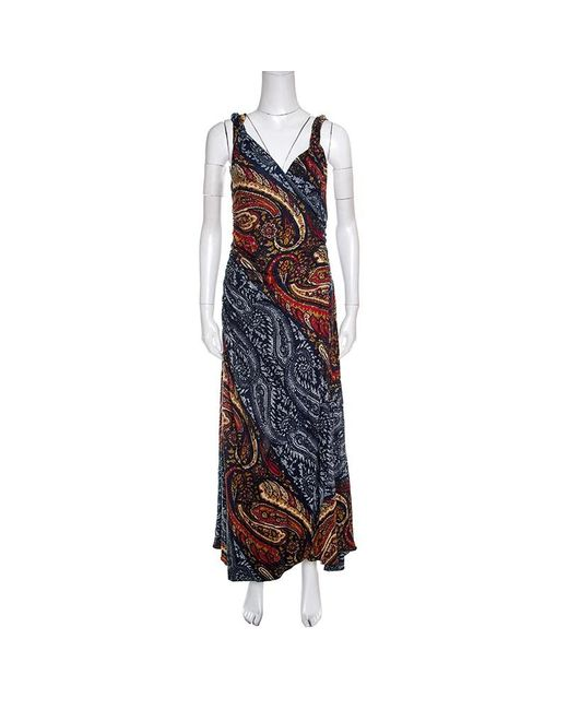 Marc By Marc Jacobs Blue Marc By Marc Jacob Multicolor Paisley Printed Sleeveless Maxi Dress