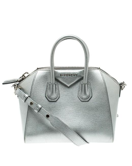 Givenchy - Metallic Leather Mini Antigona Satchel - Lyst