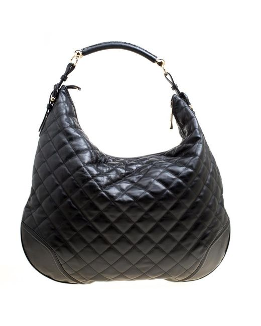... Burberry - Black Quilted Leather Hoxton Hobo - Lyst ... 17c7504af9827