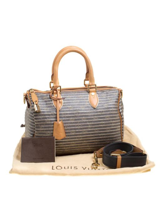 b80005a63b28 ... Louis Vuitton - Brown Argent Monogram Canvas And Leather Limited  Edition Eden Speedy 30 Bag ...