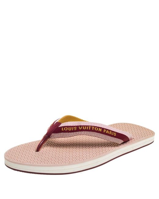 Louis Vuitton Multicolor Nylon Bahia Flip Flops Flat Thong Sandals for men