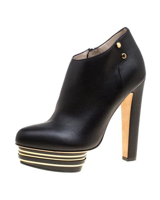Le Silla Enio Silla For Black Leather Platform Booties
