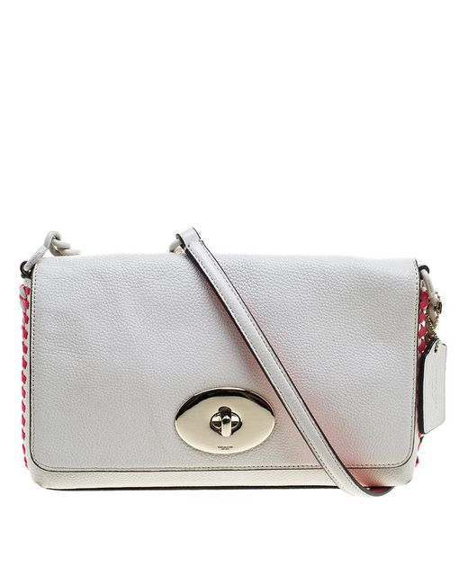 COACH - White Off Leather Crosstown Crossbody Bag - Lyst