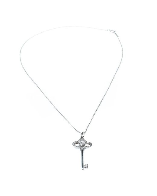 11e2bdad2a17f Women's Metallic Tiffany Keys Crown Key White Gold And Diamonds Necklace