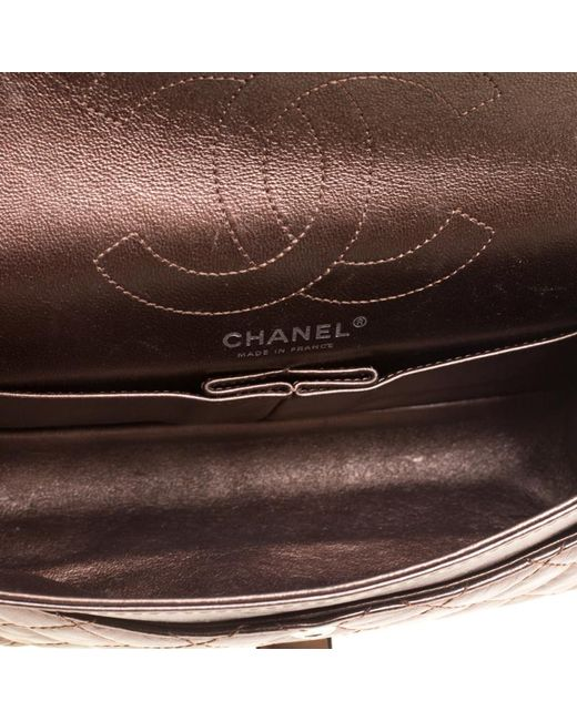 4a8b874c48077d ... Chanel - 2.55 Brown Leather Handbag - Lyst ...