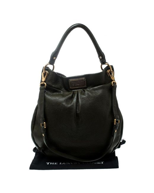 481cf2751c8 ... Marc By Marc Jacobs - Olive Green Leather Classic Q Hillier Hobo - Lyst  ...