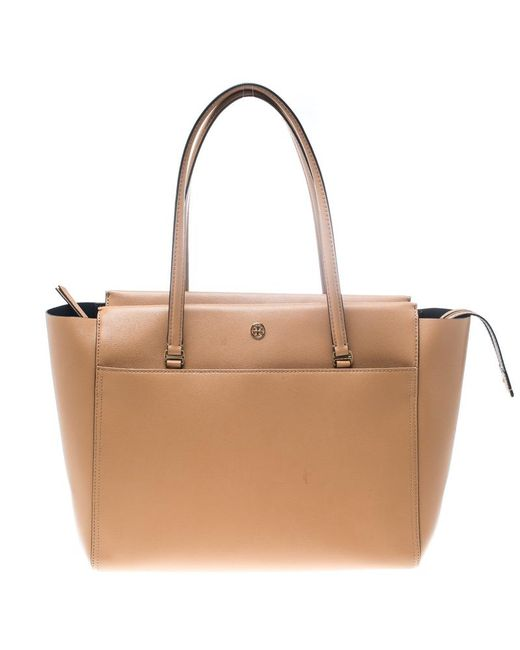 Tory Burch - Brown Leather Large Parker Tote - Lyst
