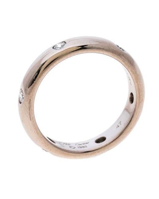 Lyst Cartier Stella Diamond 18k White Gold Wedding Band Ring In