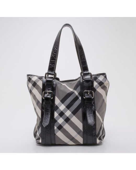 Burberry - Black Lowry Check Tote And Wallet - Lyst ... 934ffcdd9f