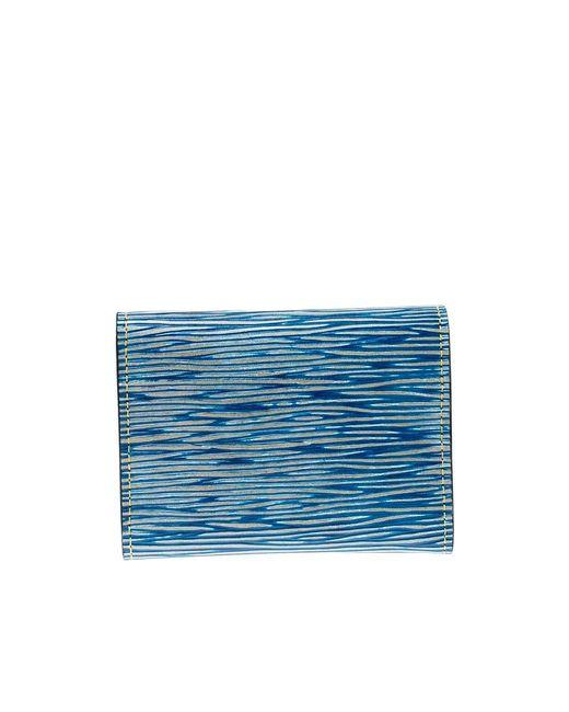 a2bf5994 Men's Blue Denim Epi Leather Business Card Holder