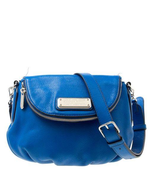 Marc By Marc Jacobs - Blue Leather Classic Q Natasha Crossbody Bag - Lyst