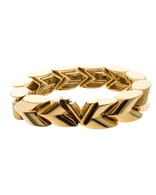 Louis Vuitton - Metallic Unchain V Tone Bracelet - Lyst