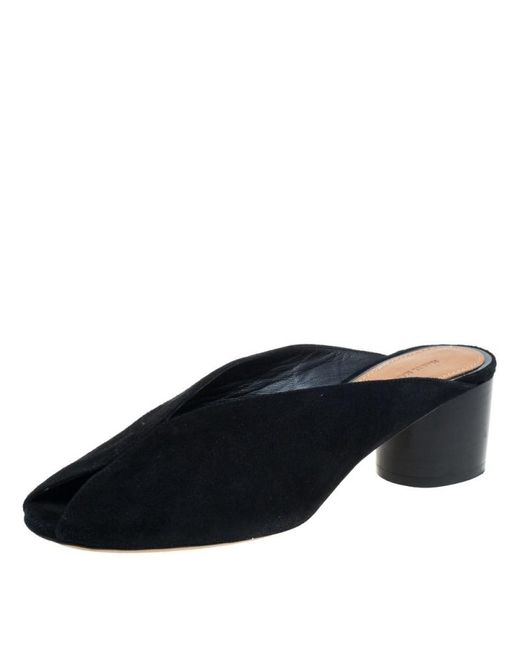 Isabel Marant Black Suede Meirid Slip On Sandals
