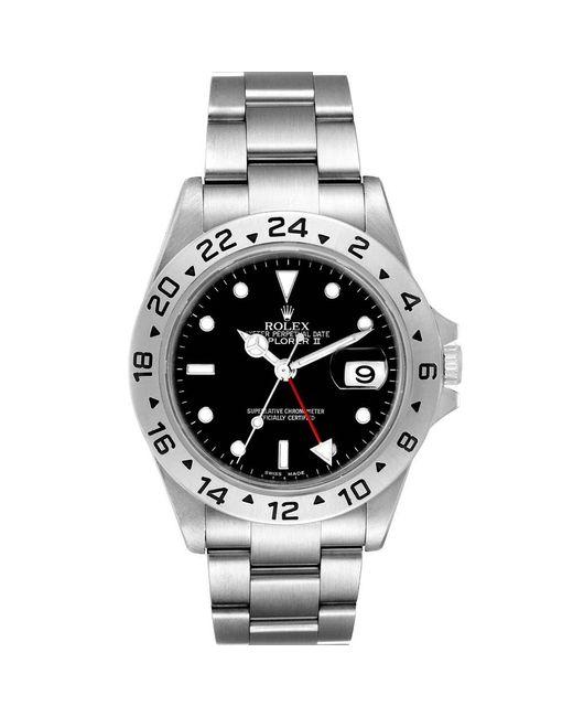 Rolex Black Stainless Steel Explorer Ii Automatic 16570 Wristwatch 40 Mm for men
