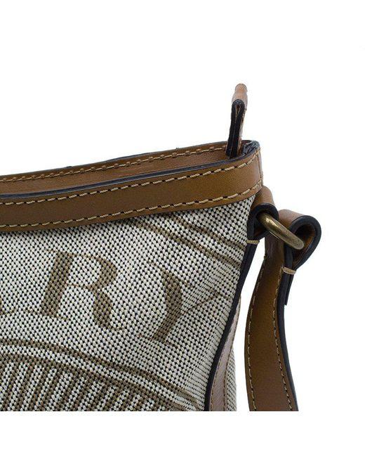 a93b493d0937 ... Burberry - Brown Canvas Crossbody Bag - Lyst ...