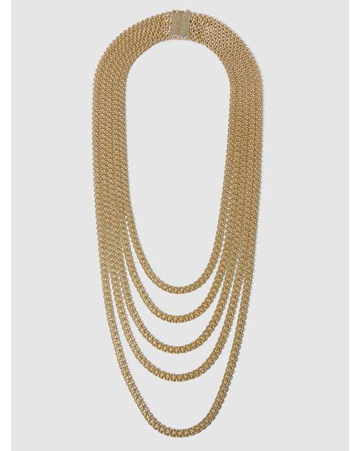 Rosantica | Metallic Bismark Gold-tone Multi-strand Necklace | Lyst