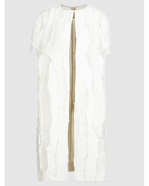 Zero + Maria Cornejo   White Koy Panelled Short-sleeved Jacket   Lyst