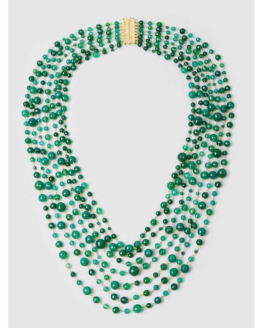 Rosantica - Green Pegaso Quartz Multi-strand Necklace - Lyst