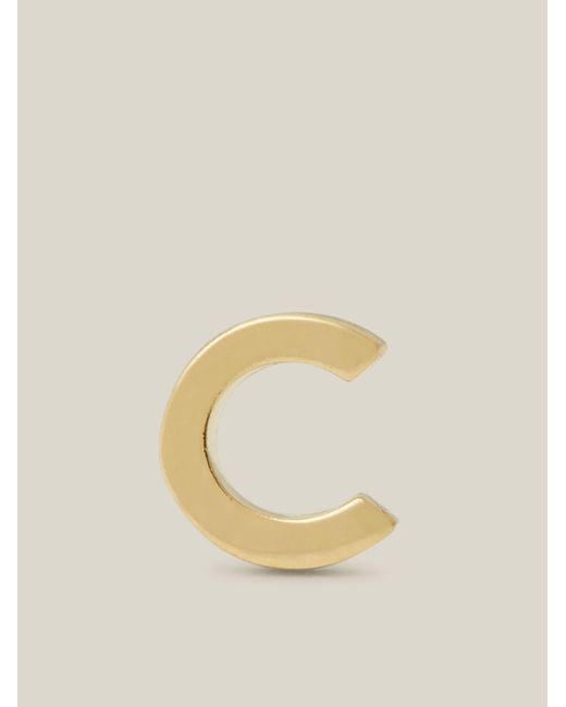 Otiumberg Multicolor Alphabet C Single Gold Stud