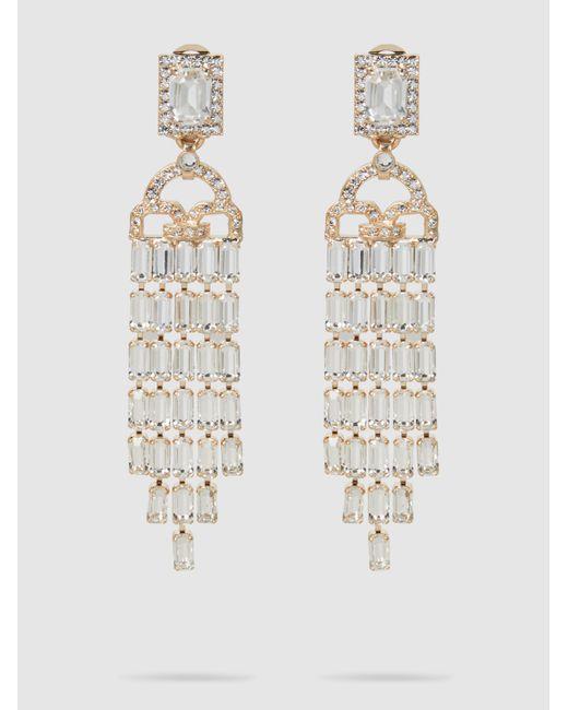 Alberta Ferretti - Metallic Gold-tone Crystal Waterfall Earrings - Lyst