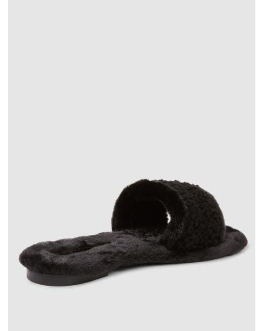 AVEC MODéRATION Kitzbuhel Shearling And Faux Fur Slippers rkVTuXaU