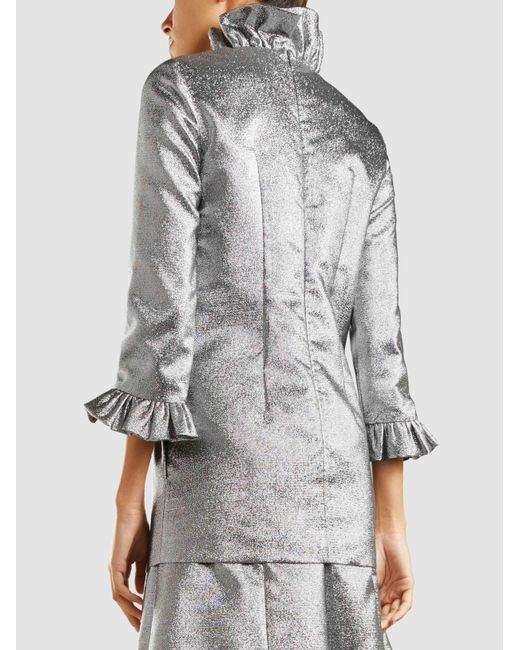 Metallic Ruffle-Neck Blouse Merchant Archive With Credit Card Sale Online 2018 New Cheap Sale For Sale Buy Cheap Extremely FD4UnwTu