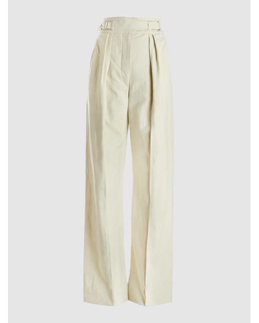 Lemaire Natural Pleat Front Cargo Trousers