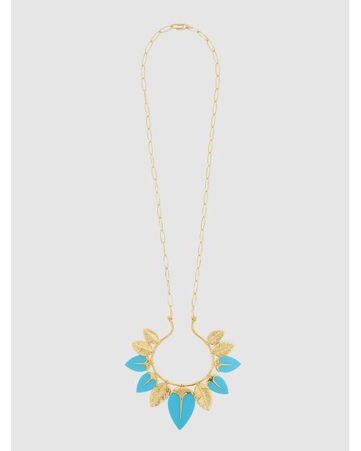 Aurelie Bidermann - Multicolor Talitha Gold-tone Turquoise Necklace - Lyst