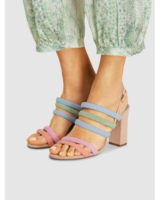 776673a1f17 Alexandre Birman Candice Block-heel Strappy Suede Sandals - Lyst