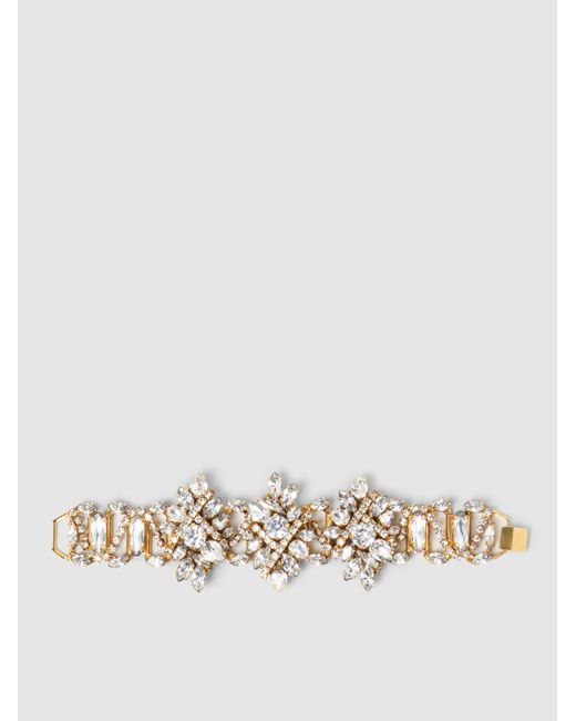 Erickson Beamon | Multicolor Floral Crystal Bracelet | Lyst