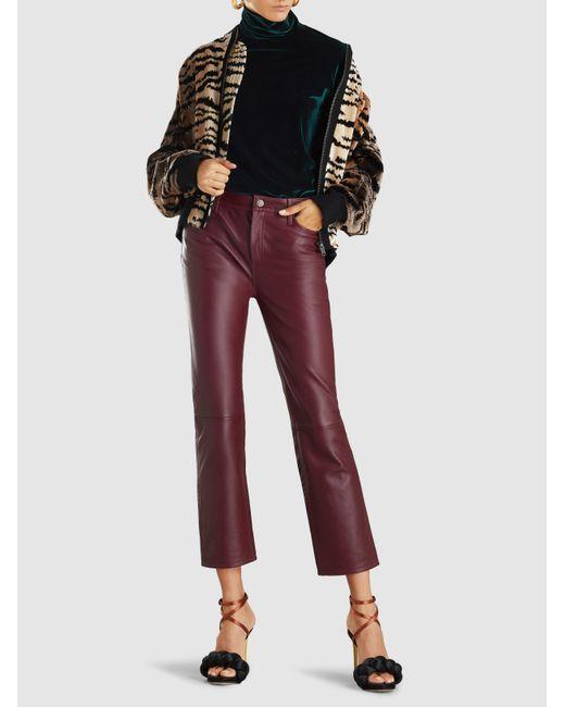 3ffd1ea82 Women's Leopard Print Faux Fur Bomber Jacket